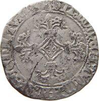 FLANDERS DOUBLE PATARD STUIVER Karel de Stoute 1467-1477 #t89 051