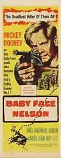 BABY FACE NELSON Movie POSTER 14x36 Insert Mickey Rooney Carolyn Jones Cedric