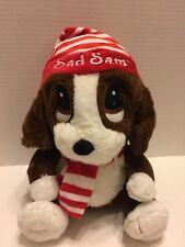 Dan Dee Sad Sam Plush Bassett Hound Puppy  Soft & Adorable W/Red Stripped Hat
