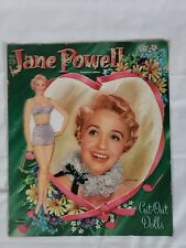 Vintage paper dolls Jane Powell 1955 Whitman #2055 One doll w/many uncut clothes
