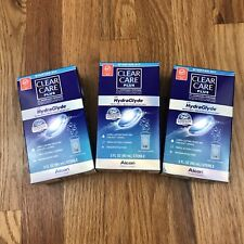 Lot Of 3 Clear Care Plus HydraGlyde Starter KIT 3 oz  EXPIRED 01/31/2019