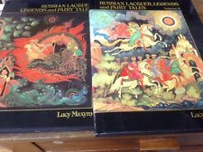 RUSSIAN LACQUER, LEGENDS AND FAIRY TALES (VOl. I & II) By Lucy Maxym -