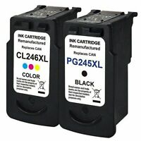 2Pk CL-246XL PG-245XL Ink Cartridge For Canon Pixma IP2820 MG2520 MX490 MG3022