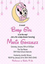 Minnie Mouse Baby Shower, Baby Girl, Minnie, Baby, Pink, Girl, Invitation