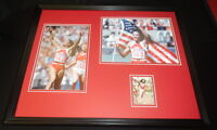 Florence Griffith Joyner Signed Framed 16x20 Photo Set Olympics
