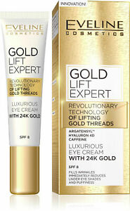 Eveline GOLD LIFT EXPERT Luxurious Eye Cream with 24K Gold SPF 8 15ml