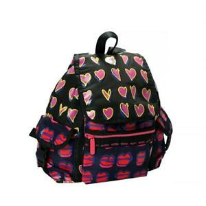 LeSportsac Alber Elbaz Medium Voyager 45 Backpack In Hearts And Kisses NWT