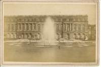 France, Palais de Versailles, Façade  Vintage albumen print Tirage albuminé