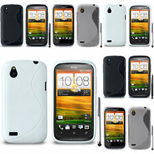 Schutz Hülle für HTC Desire X T328E/ G7X TPU Silikon Flip Case Cover Etui