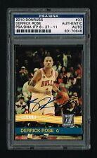 Derrick Rose signed autograph auto 2010 Donruss #37 PSA In the Presence Slabbed