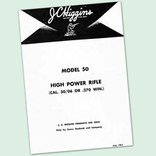 JC HIGGINS MODEL 50 OWNERS PARTS GUN MANUAL INSTRUCTION RIFLE 270 3006 JCHIGGINS