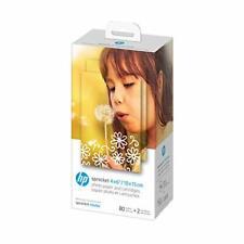 "HP Sprocket Studio 4x6"" Photo Paper & Cartridges 80 Sheets - 2 Cartridges Com..."
