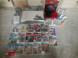 Nintendo Wii Mini Konsole Balanceboard Controller Remote Nunchuk Spiele Konvolut