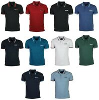 Mens Brand New Lambretta Polo Big Size in Black Navy White Blue Burgundy Colour