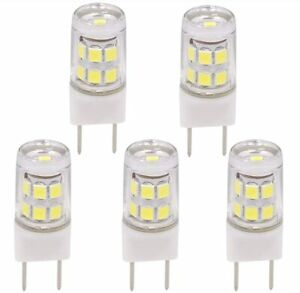 5x 6000K White T4 G8 Base Bi-pin JCD Type LED Lamp 20W Halogen Bulb Replacement