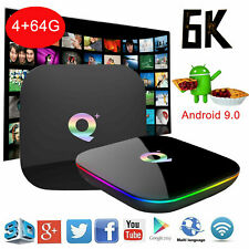 6K Q Plus 4+64GB TV Box Smart Android 9.0 Allwinner H6 USB3.0 2.4G WiFi J2R4