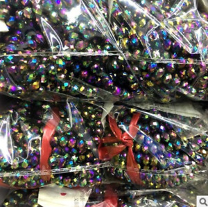 48Pc DIY Rondelle Faceted Crystal Glass Loose Spacer Multi Colorful Beads AB 6MM