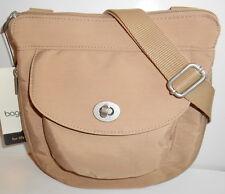 BAGGALLINI AMSTERDAM Crossbody Shoulder Bag *NEW* Tan Sand Organizer Xpands NWT