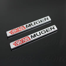 2PCS Car Trunk Spoiler Mugen 3D Emblem Badge Sticker Decal For Honda Civic - 4""