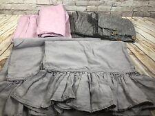 set of 3 pairs standard Linen pillow sham case pink smoke berry rectangular