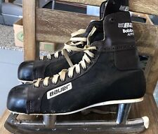 Vintage Bauer Hockey Ice Skates BOBBY CLARKE Approved Metal Sz 10 2/3 Canada