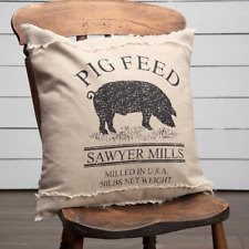 Farmhouse Country Primitive Rustic Sawyer Mill Pig Throw Pillow Vhc Brands