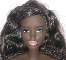 Barbie 2017 AA Nude Articulated Jointed Doll Green Eyes Curly Hair NEW for OOAK