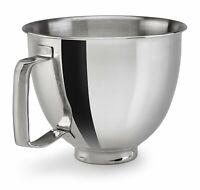 KitchenAid 3.5-Quart Flared Polished Stainless Steel Bowl for Artisan Mini Stand