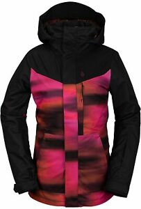 2021 NWT WOMENS VOLCOM PINE 2L TDS JACKET $280 S Bright Pink long fit 2 layer