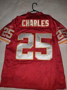 BNWT: Jamaal Charles Vintage Reebok NFL Kansas City Chiefs Jersey, Size L - Red