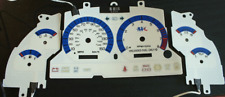 1996-1998 Ford Mustang Gt 150 mph Cluster White Face Glow Gauges Glow Blue Green