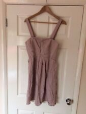 """BNWT'S """"NAF NAF"""" dress beige Taille 38 UK 10"""