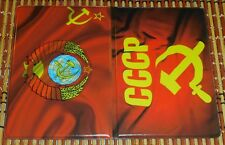 Russia USSR Emblem PVC Passport Holder Traveling Passport Cover Russian Souvenir