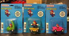 Super Mario Bros Pull Back Toy Old Fashion Car Nintendo 1992 Vintage Carded