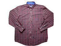 Chaps by Ralph Lauren Mens Shirt Size L Long Sleeve Button Up Plaid Print