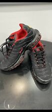 MENS NIKE AIR TN TRAINERS. BLACK RED SIZE UK9