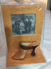"""Just The Right Gift By Raine 3"""" x 3"""" Photo Frame W/Mini Womans Shoe New In Box"""