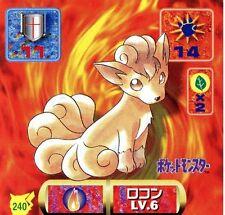 POKEMON STICKER Carte JAPANESE 50X50 1997 NORM@L N° 240 VULPIX GOUPIX
