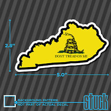 """Kentucky State Don't Tread On Me - 5.0""""x2.8"""" - printed vinyl decal sticker KY"""