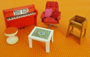 Set of Lundby Vintage 1970's Dolls House Furniture