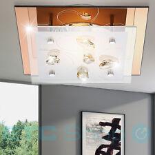 plafonnier de Luxe Intérieur glasstrahler CRISTAUX AMBRE Corridor 1-FLAMMIG