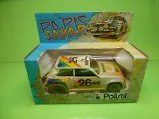 POLISTIL RENAULT 5 TURBO PARIS DAKAR No 26 - WHITE 1:24 - GOOD IN BOX