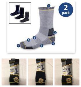 Workwear Mens Work Socks Reinforced Heel & Toe - Cushioned  2 x Pairs Size 4-11
