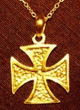 Pendant charm silver Jewelry Look Gold Plated Maltese Cross