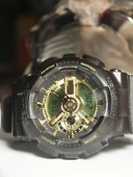 CASIO G-SHOCK GA-110BR SPORTS WATCH IN BLACK & GOLD (DIGITAL + ANALOG) AU STOCK