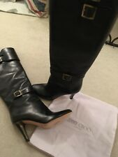 New Jimmy Choo Knee High Black Leather Boots