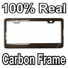REAL 100% CARBON FIBER LICENSE PLATE FRAME TAG COVER ORIGINAL 3K TWILL JDM /FF B