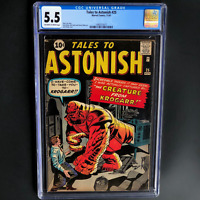 TALES TO ASTONISH #25 (1961) 🔥 CGC 5.5 OW-W 🔥 ONLY 60 in CENSUS! Kirby Cover