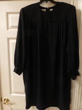 NWOT CHAUS WOMEN DRESSES 22W BLACK  CREPE LONG SLEEVE  VTG 90s