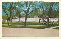 Emporia Kansas~Free Tourist Camping Ground~1920s Postcard